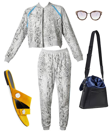 Snake Print Jumpsuit Outfit