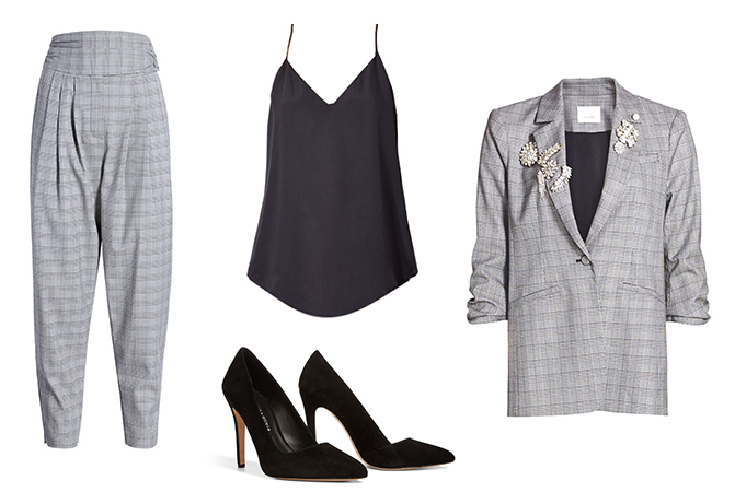 houndstooth suit outfit inspiration