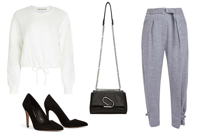 sweat trouser outfit inspiration